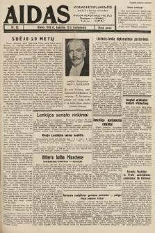 """Aidas : vilniaus lietuvių laikraštis eina tris kartus savaitėje : duoda nemokamus priedus ūkininkams-""""ūkininką"""", Vaikams-""""Varpelį"""". 1938, nr62"""