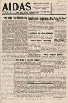 """Aidas : vilniaus lietuvių laikraštis eina tris kartus savaitėje : duoda nemokamus priedus ūkininkams-""""ūkininką"""", Vaikams-""""Varpelį"""". 1938, nr67"""