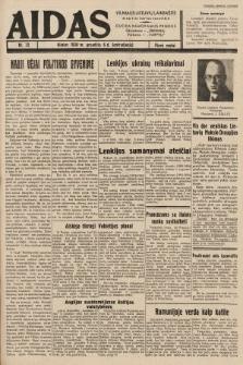 """Aidas : vilniaus lietuvių laikraštis eina tris kartus savaitėje : duoda nemokamus priedus ūkininkams-""""ūkininką"""", Vaikams-""""Varpelį"""". 1938, nr72"""