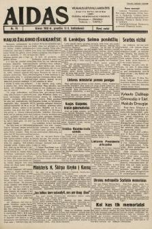 """Aidas : vilniaus lietuvių laikraštis eina tris kartus savaitėje : duoda nemokamus priedus ūkininkams-""""ūkininką"""", Vaikams-""""Varpelį"""". 1938, nr75"""