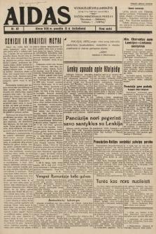 """Aidas : vilniaus lietuvių laikraštis eina tris kartus savaitėje : duoda nemokamus priedus ūkininkams-""""ūkininką"""", Vaikams-""""Varpelį"""". 1938, nr82"""