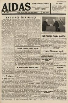"""Aidas : vilniaus lietuvių laikraštis eina tris kartus savaitėje : duoda nemokamus priedus ūkininkams-""""ūkininką"""", Vaikams-""""Varpelį"""". 1939, nr8"""