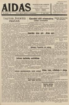 """Aidas : vilniaus lietuvių laikraštis eina tris kartus savaitėje : duoda nemokamus priedus ūkininkams-""""ūkininką"""", Vaikams-""""Varpelį"""". 1939, nr22"""