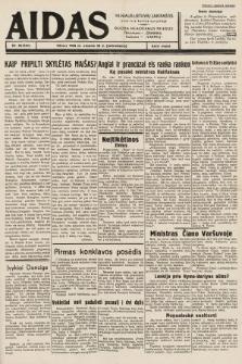 """Aidas : vilniaus lietuvių laikraštis eina tris kartus savaitėje : duoda nemokamus priedus ūkininkams-""""ūkininką"""", Vaikams-""""Varpelį"""". 1939, nr25"""