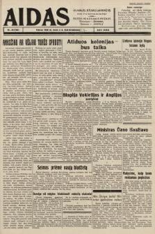 """Aidas : vilniaus lietuvių laikraštis eina tris kartus savaitėje : duoda nemokamus priedus ūkininkams-""""ūkininką"""", Vaikams-""""Varpelį"""". 1939, nr26"""
