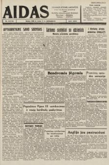 """Aidas : vilniaus lietuvių laikraštis eina tris kartus savaitėje : duoda nemokamus priedus ūkininkams-""""ūkininką"""", Vaikams-""""Varpelį"""". 1939, nr30"""