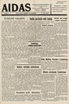 """Aidas : vilniaus lietuvių laikraštis eina tris kartus savaitėje : duoda nemokamus priedus ūkininkams-""""ūkininką"""", Vaikams-""""Varpelį"""". 1939, nr40"""