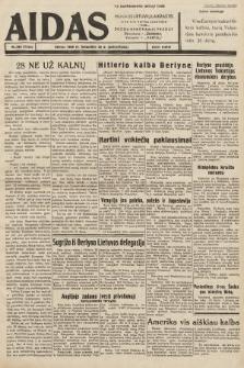 """Aidas : vilniaus lietuvių laikraštis eina tris kartus savaitėje : duoda nemokamus priedus ūkininkams-""""ūkininką"""", Vaikams-""""Varpelį"""". 1939, nr48a (po konfiskacie nakład drugi)"""