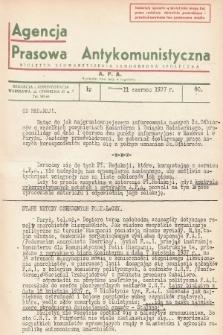Agencja Prasowa Antykomunistyczna : APA. 1937, nr30