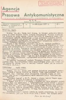 Agencja Prasowa Antykomunistyczna : APA. 1937, nr42
