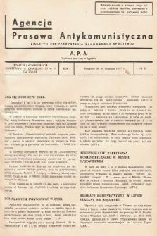 Agencja Prasowa Antykomunistyczna : APA. 1937, nr59