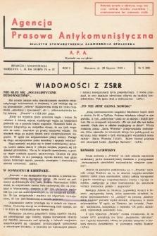 Agencja Prasowa Antykomunistyczna : APA. 1938, nr5