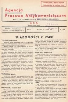 Agencja Prasowa Antykomunistyczna : APA. 1938, nr6