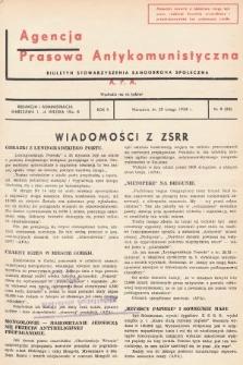Agencja Prasowa Antykomunistyczna : APA. 1938, nr9