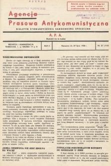 Agencja Prasowa Antykomunistyczna : APA. 1938, nr31