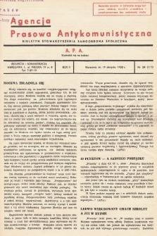 Agencja Prasowa Antykomunistyczna : APA. 1938, nr34