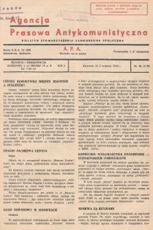 Agencja Prasowa Antykomunistyczna : APA. 1938, nr36