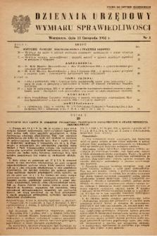 Dziennik Urzędowy Ministerstwa Sprawiedliwości. 1952, nr 3 (Tylko do użytku służbowego)