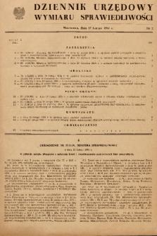 Dziennik Urzędowy Wymiaru Sprawiedliwości. 1954, nr 2