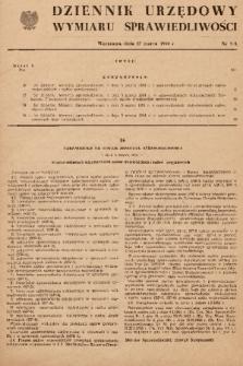 Dziennik Urzędowy Wymiaru Sprawiedliwości. 1954, nr 3A