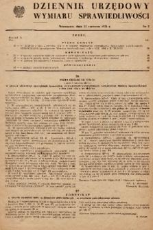 Dziennik Urzędowy Wymiaru Sprawiedliwości. 1954, nr 5
