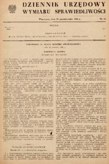 Dziennik Urzędowy Wymiaru Sprawiedliwości. 1954, nr 10