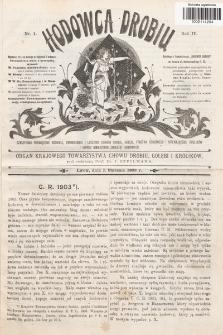 Hodowca Drobiu. 1903, nr1