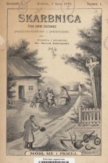 Skarbnica : popularno-naukowa i powieściowa dla ludu polskiego. R. 1, 1899, nr1