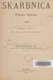 Skarbnica : popularno-naukowa i powieściowa dla ludu polskiego. R. 2, 1900, spis rzeczy