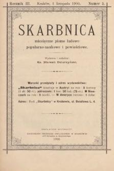 Skarbnica : pismo ludowe. R. 3, 1900, nr3