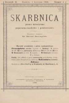 Skarbnica : popularno-naukowa i powieściowa dla ludu polskiego. R. 2, 1900, nr4