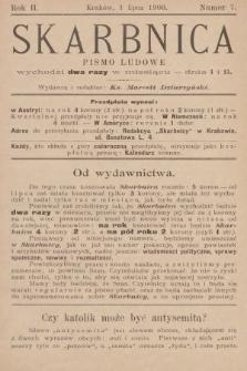 Skarbnica : pismo ludowe. R. 2, 1900, nr7