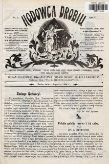 Hodowca Drobiu. 1904, nr1