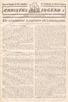 Christus Jugend : Organ des Verbandes der Kath. Jungmänner- und Jugendvereine der Diözese Katowice. 1932, nr18