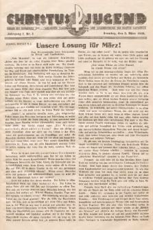 Christus Jugend : Organ des Verbandes der Katholischen Jungmänner- und Jugendvereine der Diözese Katowice. 1933, nr5
