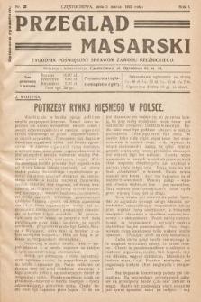 Przegląd Masarski : tygodnik poświęcony sprawom zawodu rzeźnickiego. 1933, nr3