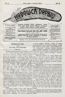Hodowca Drobiu. 1908, nr4