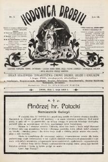 Hodowca Drobiu. 1908, nr5