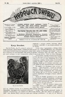 Hodowca Drobiu. 1909, nr12