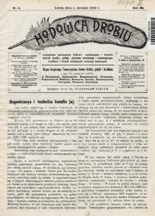 Hodowca Drobiu. 1910, nr1