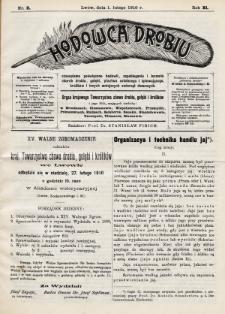 Hodowca Drobiu. 1910, nr2