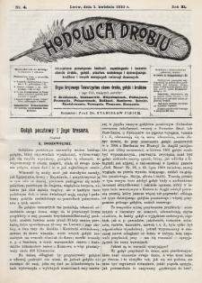 Hodowca Drobiu. 1910, nr4