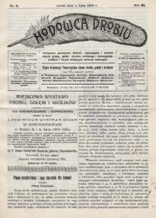 Hodowca Drobiu. 1910, nr7