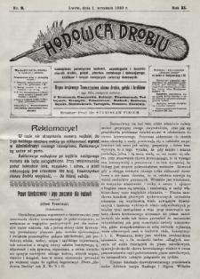 Hodowca Drobiu. 1910, nr9