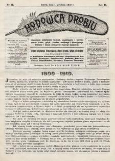 Hodowca Drobiu. 1910, nr12