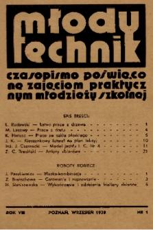 Młody Technik : czasopismo poświęcone zajęciom praktycznym młodzieży szkolnej. 1938, nr 1