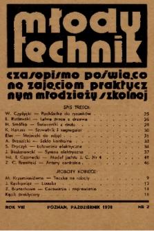 Młody Technik : czasopismo poświęcone zajęciom praktycznym młodzieży szkolnej. 1938, nr 2