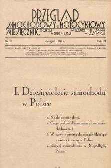 Przegląd Samochodowy i Motocyklowy. 1928, nr11