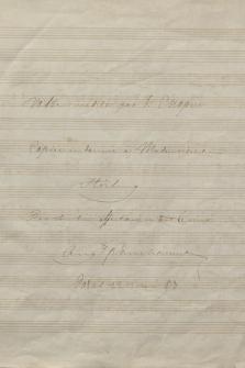 """""""Valse inedite par F: Chopin : copiée et donnée à mademoiselle Stirling par son bien affectionné et tout devoué Aug[us]te Franchomme"""""""
