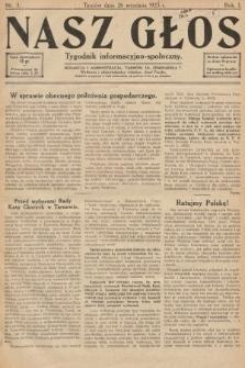 Nasz Głos : tygodnik informacyjno-społeczny. 1925, nr3